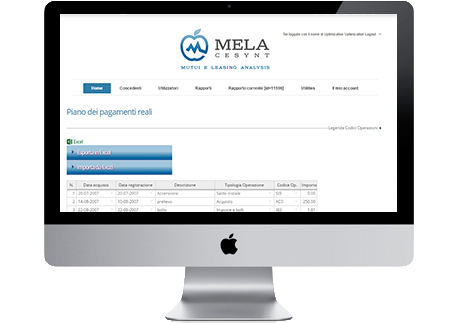 Mela revolving piano pagamenti carta revolving